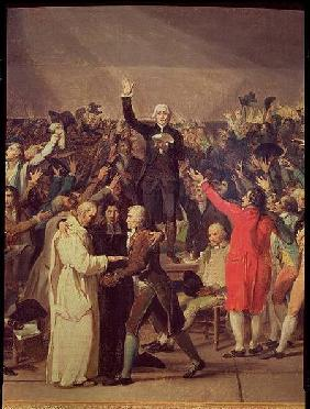 The Tennis Court Oath, 20th June 1789, detail of the group surrounding Bailly
