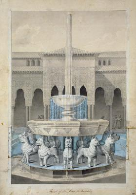 Fountain in the Court of the Lions, Alhambra, from 'The Arabian Antiquities of Spain'