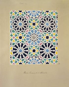 Mosaic Pavement in the Alhambra, from 'The Arabian Antiquities of Spain', published 1815 (w/c on pap