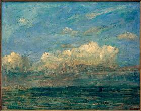 Seascape with white cloud