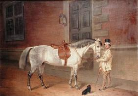 Lady Rosamund's Mare with Head Groom at Tredegar House, Newport