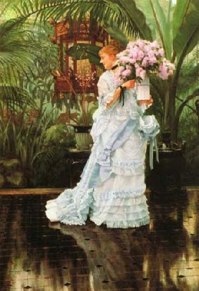 Tissot, James Jacques : Le bouquet de lilas.
