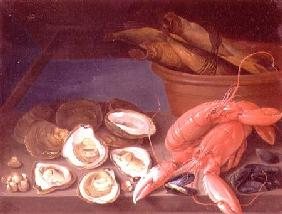 Still Life of Lobsters