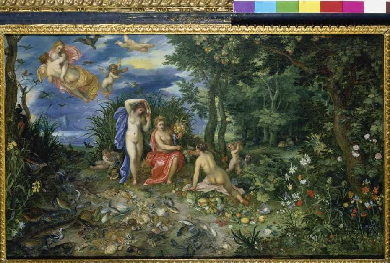 ceres and the four elements figures by jan brueghel d. Black Bedroom Furniture Sets. Home Design Ideas