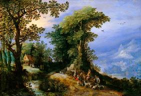 J.Brueghel t.E. / Return from the Hunt