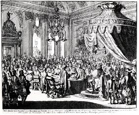 Revocation of the Edict of Nantes, on 22nd October 1685