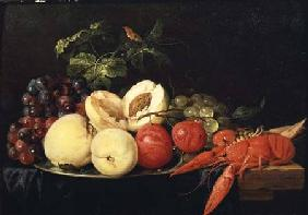 Still Life of Fruit with a Lobster