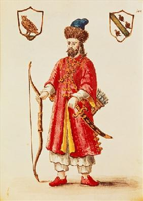 Marco Polo (1254-1324) dressed in Tartar costume