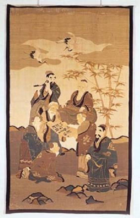Seven wise men in the bamboo forest