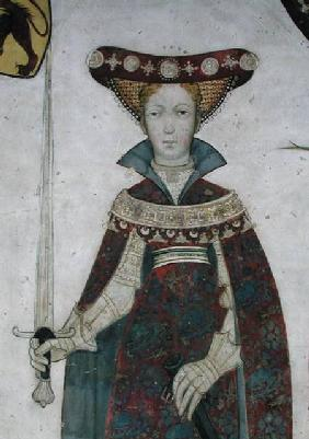 Jaquerio  - The Nine Worthies and the Nine Worthy Women, detail of Hippolyte