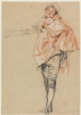 Study of a Standing Dancer with an Outstretched Arm
