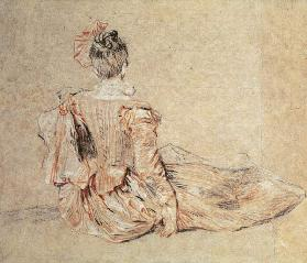 Study of a woman seen from the back, 1716-18