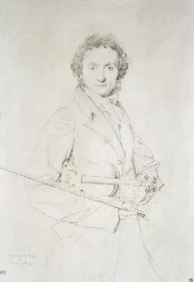 Portrait of Niccolo Paganini (1782-1840)