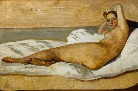 The Roman Odalisque (Marietta) 1843 (oil & pencil on paper)