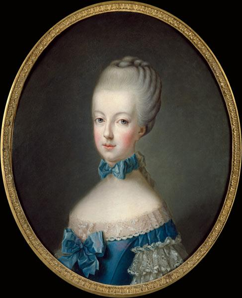 Portrait of Marie-Antoinette de Habsbourg-Lorraine (1750-93) after the painting by Joseph Ducreux (1