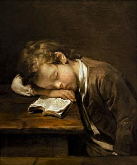 the sleeping schoolboy