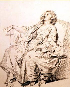 Young Woman Sitting in an Armchair