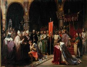 Louis VII (c.1120-1180) the Young, King of France Taking the Banner in St. Denis in 1147