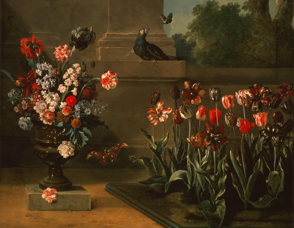 parterre de tulipes et vase de fleurs au jean baptiste oudry. Black Bedroom Furniture Sets. Home Design Ideas