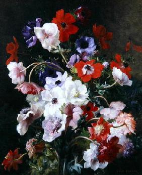 Still Life of Flowers (oil on canvas)