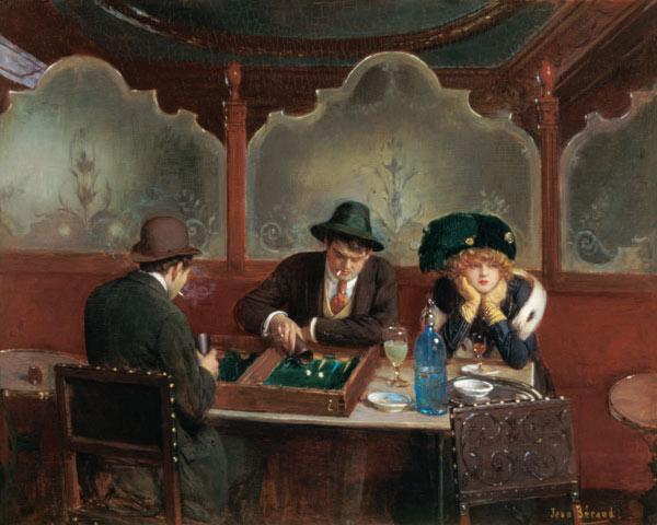 The Backgammon Players (oil on panel)