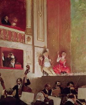Revue at the Theatre des Varietes, c.1885 (oil on canvas)