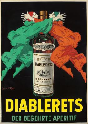 Advertising poster for the aperitif Diablerets
