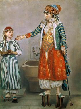 Turkish Woman with her Slave