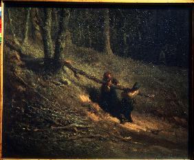 Peasant-Girls with Brushwood (Les Charbonnieres)
