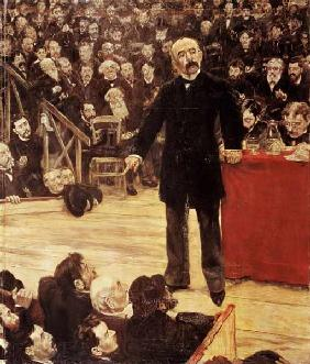 Georges Clemenceau (1841-1929) Making a Speech at the Cirque Fernando