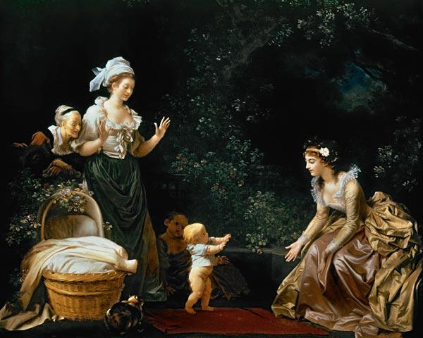 the first steps (painted with Marguerite Gérard)