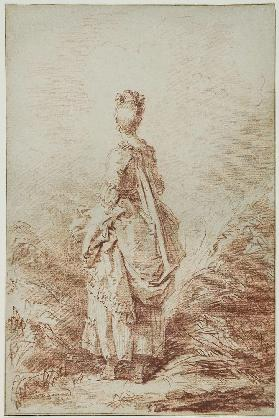 Young Woman Looking Back