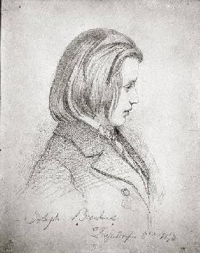 Portrait of Johanes Brahms (1833-97) aged Twenty