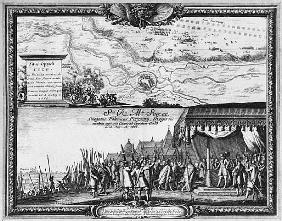 Defeat of the Polish army at Kola, August 1655, King of Sweden receives the Ambassador of Poland for
