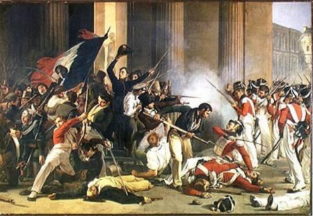 Scene Of The 1830 Revolution At The Louv Jean Louis Bezard En Reproduction Imprimee Ou Copie Peinte A L Huile Sur Toile