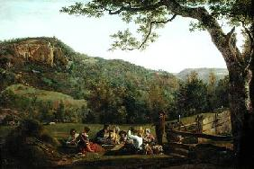 Haymakers Picnicking in a Field