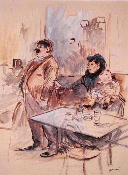 Absinthe Jean Louis Forain En Reproduction Imprimee Ou Copie Peinte A L Huile Sur Toile