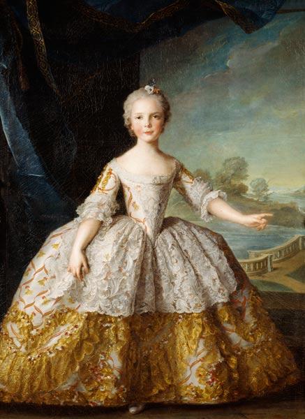Infanta Isabelle de Bourbon-Parme (1741- - Jean-Marc Nattier en  reproduction imprimée ou copie peinte à l'huile sur toile