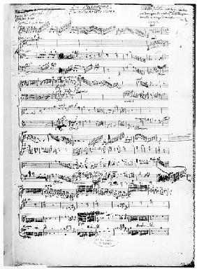 Opening page of the score of ''Les Paladins'', opera