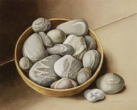 Bowl of Pebbles, 2005 (w/c on paper)