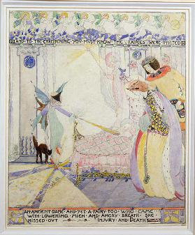 And to the Christening, illustration from Sleeping Beauty