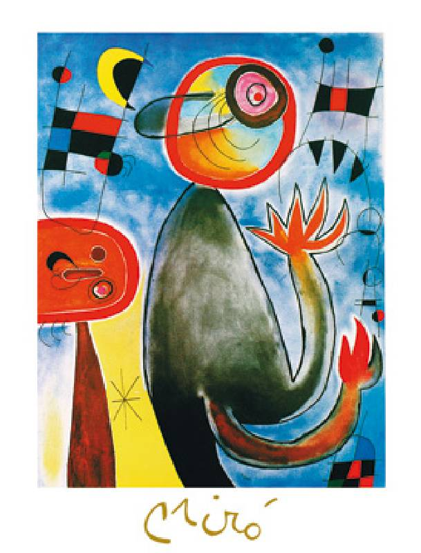 Les Echelles En Roue Jm 272 Joan Miro En Reproduction Imprimee Ou Copie Peinte A L Huile Sur Toile