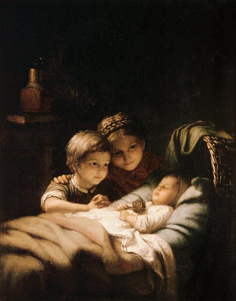 Titre de l'image : Johann Georg Meyer von Bremen - Le jeune Geschwisterchen