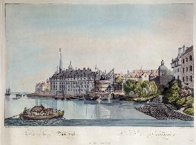 View of Düsseldorf before the French Bombardment on October 6, 1794