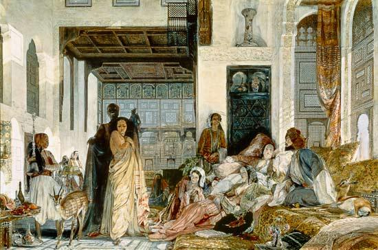 Préférence Le harem - peinture huile sur toile tendue sur châssis (81x54 cm  OB35