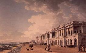 North-east view of Bentinck's Buildings, the Beach, Madras