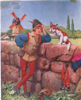 Dick Whittington and his cat (litho)