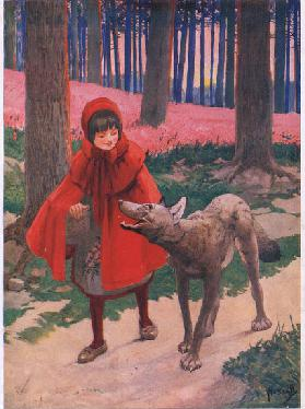 Little Red Riding Hood (litho)