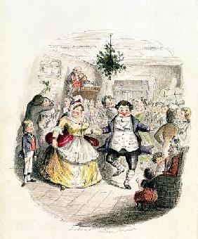 Mr Fezziwig''s Ball, from ''A Christmas Carol'' Charles Dickens (1812-70) 1843