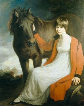 Portrait of Miss Emily Beauchamp with her Pony